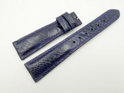 20mm/16mm Dark Blue Genuine OSTRICH Skin Leather Watch Strap #WT2347