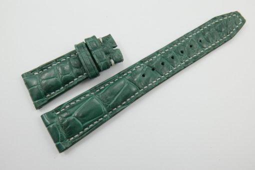 22mm Green Genuine Crocodile Skin Leather Watch Strap for IWC #WT1258