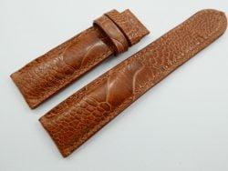 20mm Honey Brown Genuine OSTRICH Skin Leather Watch Strap Band #WT451