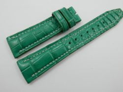 22mm Jade Green Genuine Crocodile Skin Leather Watch Strap Band for IWC #WT489