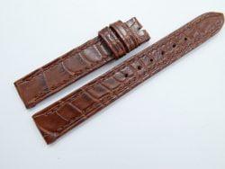 14mm/14mm Red Brown Genuine Crocodile Skin Leather Watch Strap #WT918