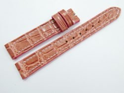 14mm/14mm Light Pink Genuine Crocodile Skin Leather Watch Strap #WT927