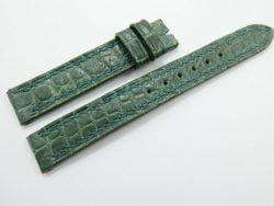 14mm/14mm Green Genuine Crocodile Skin Leather Watch Strap #WT936