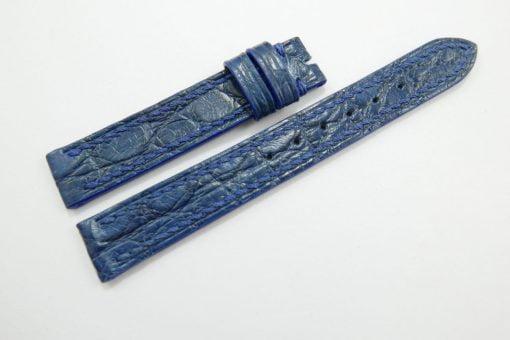 14mm/14mm Blue Genuine Crocodile Skin Leather Watch Strap #WT937