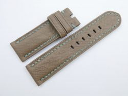 24mm/24mm Light Brown Genuine EPSOM Leather Watch Strap for Panerai #WT1002