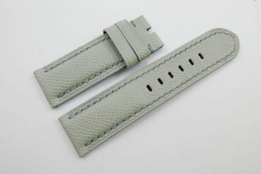 24mm/24mm Light Grey Genuine EPSOM Leather Watch Strap for Panerai #WT1003