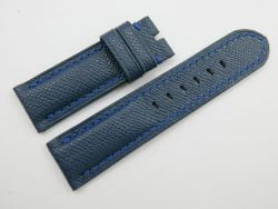 24mm/24mm Denim Blue Genuine EPSOM Leather Watch Strap for Panerai #WT1005