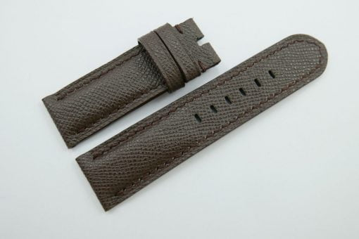 24mm/24mm Dark Brown Genuine EPSOM Leather Watch Strap for Panerai #WT1007