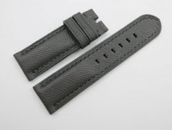 24mm/24mm Dark Grey Genuine EPSOM Leather Watch Strap for Panerai #WT1006
