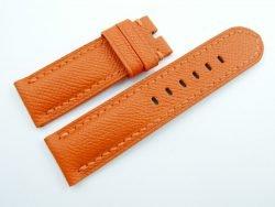 24mm/24mm Orange Genuine EPSOM Leather Watch Strap for Panerai #WT1008