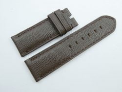 26mm/26mm Dark Brown Genuine EPSOM Leather Watch Strap for Panerai #WT1029