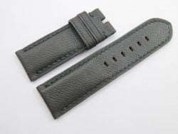 26mm/26mm Dark Grey Genuine EPSOM Leather Watch Strap for Panerai #WT1032