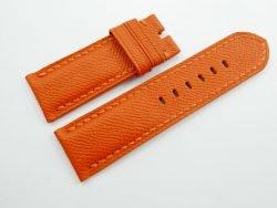 26mm/26mm Orange Genuine EPSOM Leather Watch Strap for Panerai #WT1033