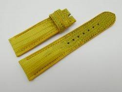 22mm Yellow Genuine Lizard Skin Leather Watch Strap #WT1074
