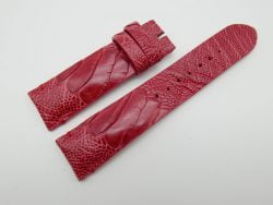 22mm Red Genuine OSTRICH Skin Leather Watch Strap #WT1168