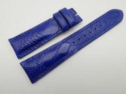 22mm/18mm Blue Genuine OSTRICH Skin Leather Watch Strap #WT1182