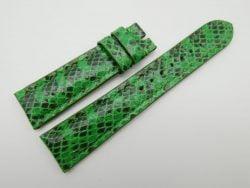 21mm Lemon Green Genuine Snake Skin Leather Watch Strap #WT1139