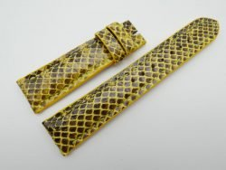 21mm Yellow Genuine Snake Skin Leather Watch Strap #WT1140