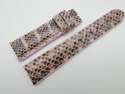21mm Pink Genuine Snake Skin Leather Watch Strap #WT1142