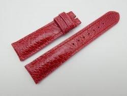 21mm Red Genuine OSTRICH Skin Leather Watch Strap #WT1185