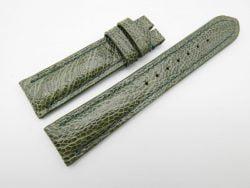 21mm Olive Green Genuine OSTRICH Skin Leather Watch Strap #WT1189