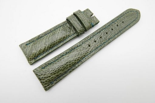 21mm Olive Green Genuine OSTRICH Skin Leather Watch Strap #WT1189