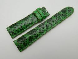 20mm Lemon Green Genuine Snake Skin Leather Watch Strap #WT1144