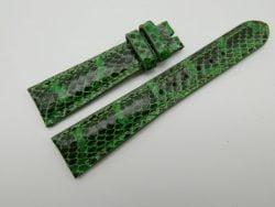 19mm Lemon Green Genuine Snake Skin Leather Watch Strap #WT1155