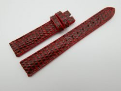 16mm Red Genuine Lizard Skin Leather Watch Strap #WT1118