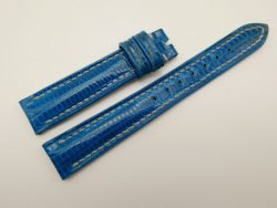 16mm Blue Genuine Lizard Skin Leather Watch Strap #WT1120