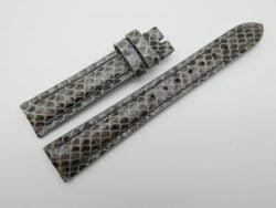 16mm Grey Genuine Snake Skin Leather Watch Strap #WT1163
