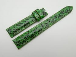 16mm Lemon Green Genuine Snake Skin Leather Watch Strap #WT1164