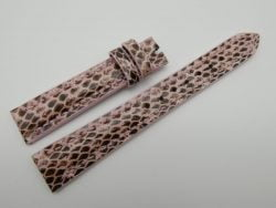 16mm Pink Genuine Snake Skin Leather Watch Strap #WT1166