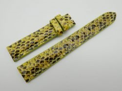 16mm Yellow Genuine Snake Skin Leather Watch Strap #WT1167