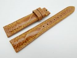 16mm Tan Brown Genuine OSTRICH Skin Leather Watch Strap #WT1224