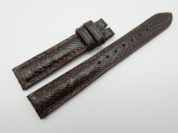 16mm Dark Brown Genuine OSTRICH Skin Leather Watch Strap #WT1230