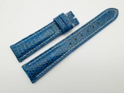 19mm/16mm Blue Genuine Lizard Skin Leather Watch Strap #WT1123