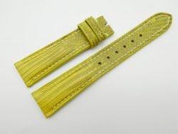 19mm/16mm Yellow Genuine Lizard Skin Leather Watch Strap #WT1126