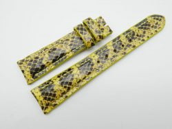20mm/16mm Yellow Genuine Snake Skin Leather Watch Strap #WT1149