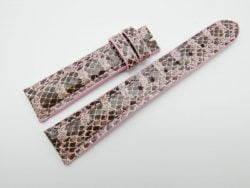 20mm/16mm Pink Genuine Snake Skin Leather Watch Strap #WT1152