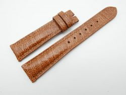 19mm/16mm Honey Brown Genuine OSTRICH Skin Leather Watch Strap #WT1205