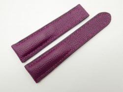 21mm Purple Genuine EPSOM Leather Deployment Strap for Omega #WT1276