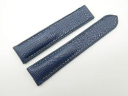 20mm Denim Blue Genuine EPSOM Leather Deployment Strap for Omega #WT1289