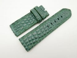 26mm/26mm Green Genuine Crocodile Skin Leather Watch Strap for PANERAI #WT1366