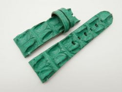 27mm/22mm Jade Green Genuine Crocodile Hornback Skin Leather Watch Strap for PANERAI #WT1413