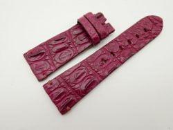 27mm/22mm Red Prune Genuine Crocodile Skin Leather Watch Strap for PANERAI #WT1421