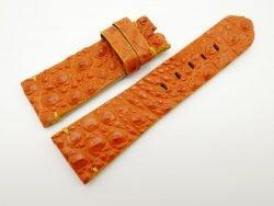 27mm/22mm Orange Genuine Crocodile Skin Leather Watch Strap for PANERAI #WT1428