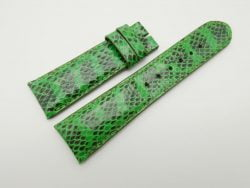 23mm Lemon Green Genuine Snake Skin Leather Watch Strap #WT1487