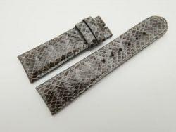 23mm Grey Genuine Snake Skin Leather Watch Strap #WT1488