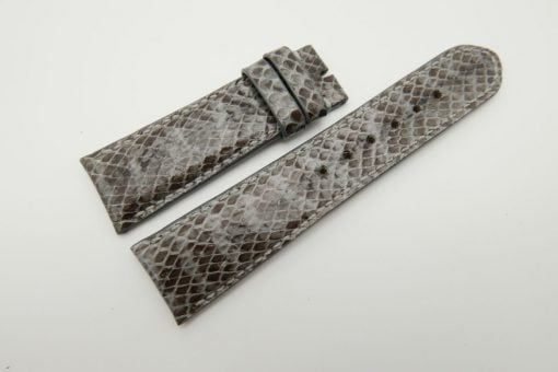 23mm Grey Genuine Snake Skin Leather Watch Strap #WT1488